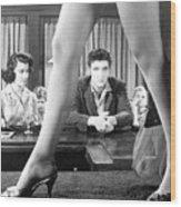 Elvis Presley Framed Between Womans Legs Wood Print