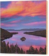 Emerald Bay Explode Wood Print