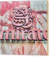 Emirates Logo Emirates Stadium  Wood Print