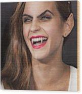 Emma Watson Hair Wood Print