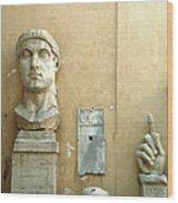 Emperor Constantine Wood Print