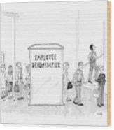 Employee Dehumidifier Wood Print
