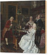 Empress Catherine II Visiting Wood Print