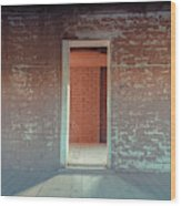 Empty Old Brick House Grafton Ghost Town Wood Print