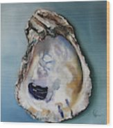 Empty Oyster Shell Wood Print