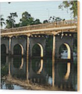 End Of An Era, East Innisfail Jubilee Bridge, Fnq Au  Wood Print