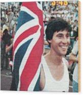 England Sebastian Coe, 1979 Iaaf Dubai Golden Mile Sports Illustrated Cover Wood Print