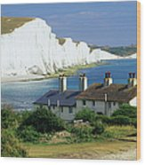 England, Sussex, Seven Sisters Cliffs Wood Print
