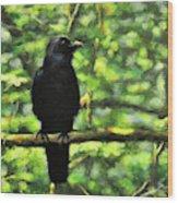 Enjoying Forest Light Wood Print