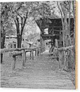 Entering Town Wood Print