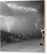 Entertainer Dean Martin On Stage Wood Print