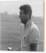 Entertainer Dean Martin Playing Golf Wood Print