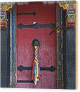 Entrance To The Tibetan Monastery Wood Print