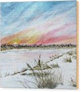 Ephemeral Sunset Wood Print