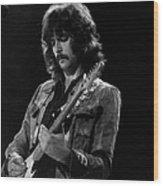 Eric Clapton On Concert Around 1970 Wood Print