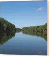 Erie Canal In Early Autumn Wood Print