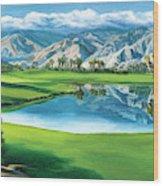 Escena Golf Club Wood Print