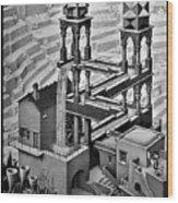 Escher 128 Wood Print