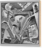 Escher 131 Wood Print