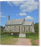 Escot Church Wood Print