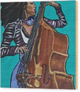 Esperanza Spalding Wood Print