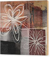 Espresso Flower 2- Art By Linda Woods Wood Print