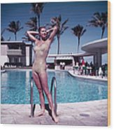 Esther Williams In Florida Wood Print