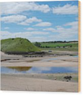 estuary on river Aln at Alnmouth Wood Print