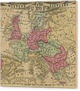 Europe Map Wood Print