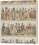 European Traditional Ethnic Folklore Wood Print