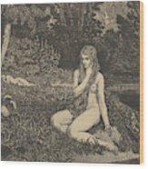 Eva From Eva Und Die Zukunft Wood Print