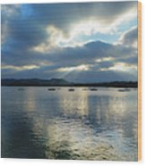 Evening On Windermere In Lake District National Park Wood Print