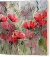 Everything About Poppies Wood Print