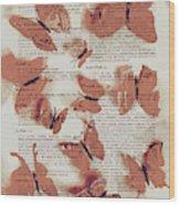 Exotic Scripts Wood Print