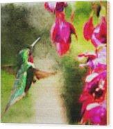 Eye On The Fuchsia Wood Print