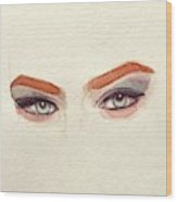 Makeup Art Painting Wood Print