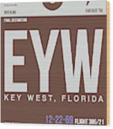 Eyw Key West Luggage Tag II Wood Print