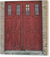 Factory Doors Wood Print