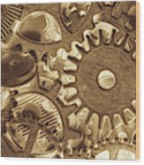 Factory Settings Wood Print