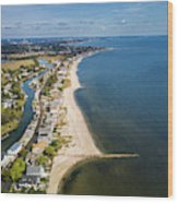 Fairfield Beach Connecticut Aerial Wood Print