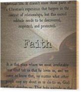 Faith 6976 Wood Print