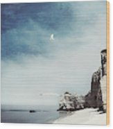 Falaise D'amont - Etretat - France Wood Print