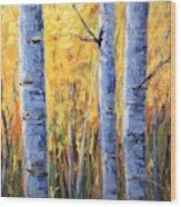 Fall Aspen Iv Wood Print