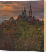 Fall Clouds Over Holy Hill Wood Print
