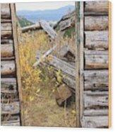 Fall Door 2 Wood Print
