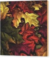 Fall Is On The Ground Wood Print