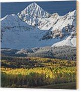 Fall Mountains Colorado Wood Print
