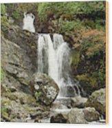 Falls At Inversnaid In Autumn Wood Print