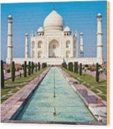 Famous Taj Mahal Mausoleum In In Bright Wood Print