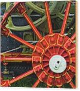 Fancy Tractor Wheel Wood Print